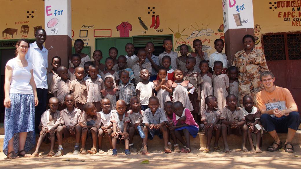 Christine und Gennadi in Afrika