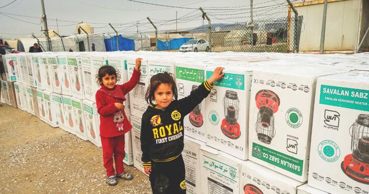 Winterhilfe für Jesiden Camp